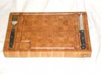 Торцевая разделочная доска для стейков