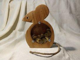 Копилка из дерева (мышь)